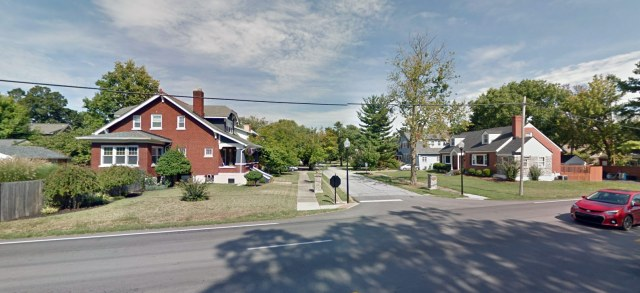 Looking east on Emerson Avenue from Bardstown Road. (Courtesy Google)