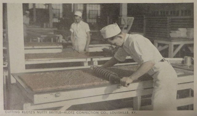 Candy making at the old Klotz plant. (Courtesy NPS)