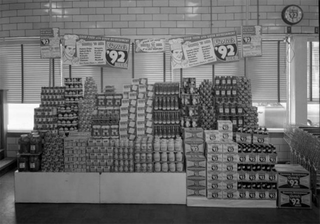 A scene inside a grocery store once on Oak Street. (UL Photo Archives - Reference below)