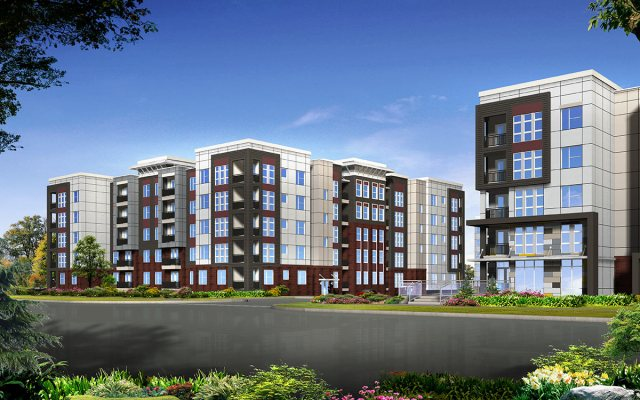 The latest rendering of the Axis Apartments. (Courtesy Cityscape Residential)