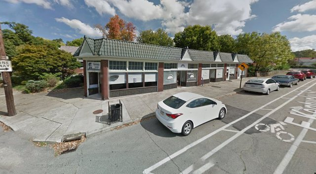 A small commercial building at Kentucky Street and Schiller Avenue shows a similar style and character as the property in question on Bardstown Road. (Courtesy Google)