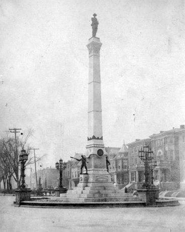 Looking south toward Park Place (now Unity Place) from the Confederate Monument circa 1904. (Courtesy UL Archives - Reference)