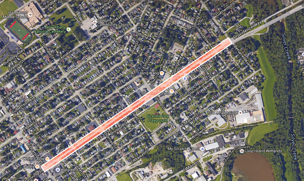 New Albany hopes to slow traffic increase safety with Spring Street