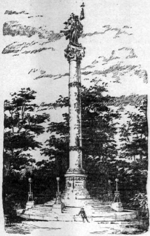 Enid Yandell's winning Confederate Monument design.