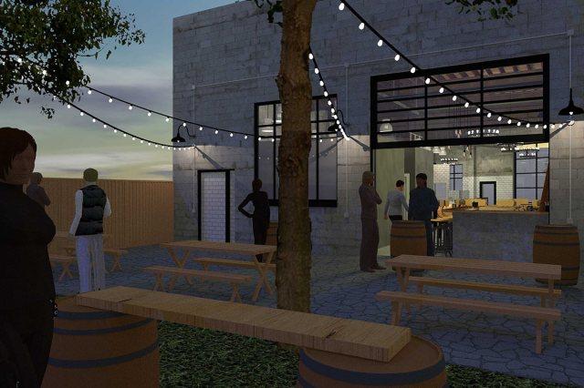 A back garage door will open onto a courtyard. (Courtesy Pho Ba Luu)