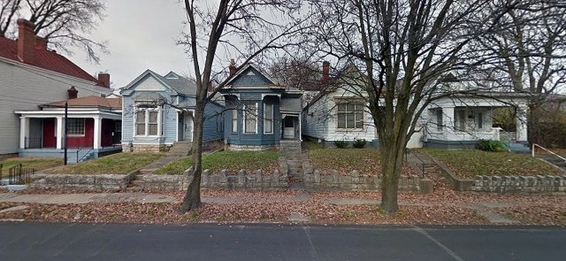 Will these five shotgun houses be donated to Preservation Louisville's Save our Shotguns (SOS) campaign? Time will tell. (Courtesy Google)