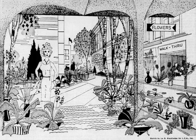 """A drawing of Guthrie Green by LCA landscape architect Le (one """"e"""") Blackledge. (Louisville Central Area)"""