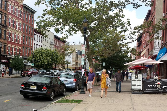 The federal government threw out 11 rules that prevented cities from building walkable streets. (Photo of a street in Hoboken courtesy NJbikeped.org)