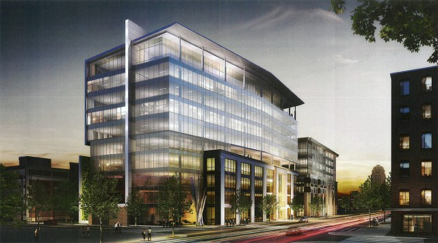Rendering of Nucleus Building 2. (Courtesy BHDP)