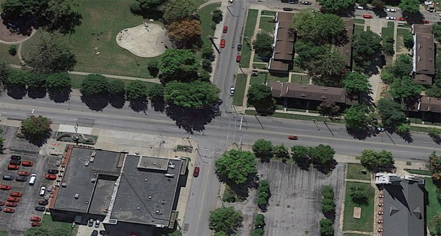 Aerial view of the intersection of Jefferson Street and 12th Street. (Courtesy Google)