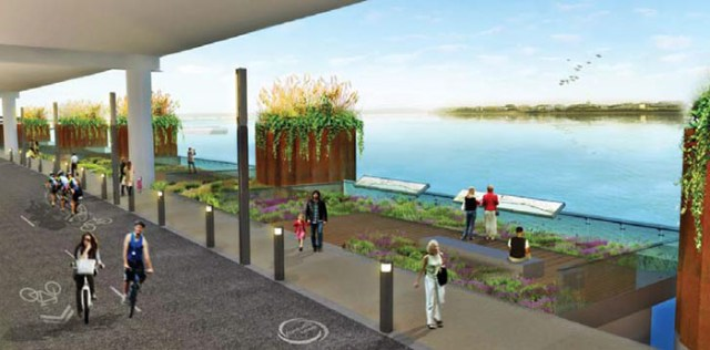 A redesigned River Road. (Courtesy Move Louisville)
