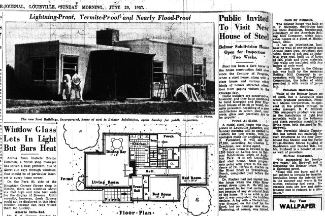 A 1937 article about the house in the Courier-Journal. (Courtesy Architectural Artisans)