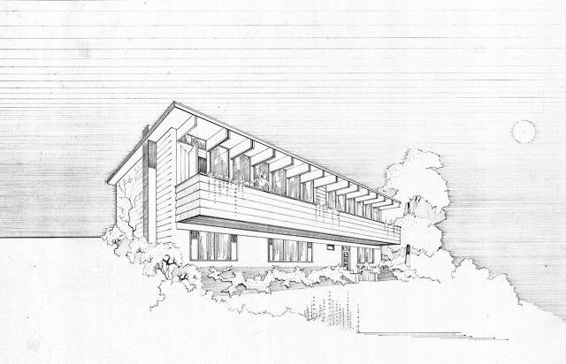 An original rendering of the house. (Courtesy Rock Paper Hammer)
