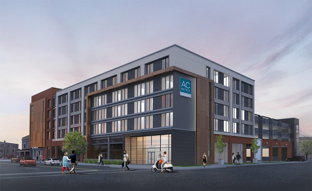 Rendering of the planned AC Hotel Nulu. (Courtesy Ron Turnier)