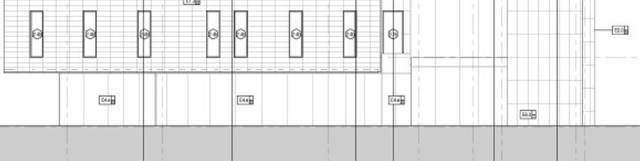 An elevation of the blank wall facing Preston Street. (GBBN Architects)