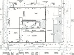 The project site plan. (GBBN)