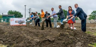 City officials and developers ceremoniously broke ground on the hotel in mid July. (Courtesy City of Jeffersonville)