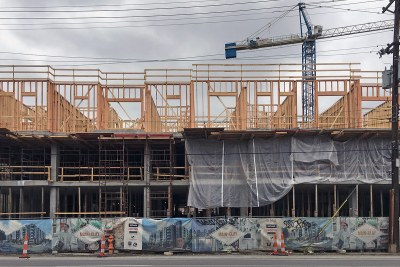 Construction Watch: Main & Clay structure switches from concrete to wood