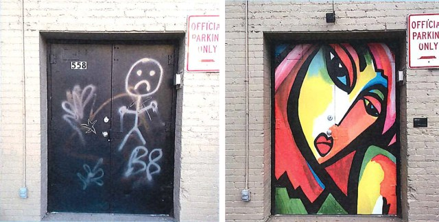 Before and after. (Courtesy Louisville Downtown Partnership)