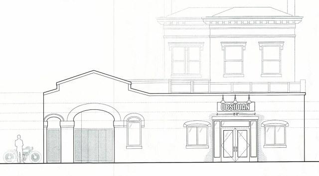 The new facade of Obsidian. (Courtesy Urban 1, LLC)