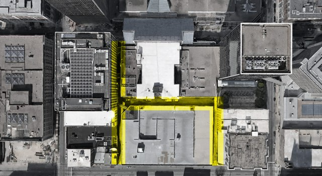 Alley highlighted in yellow. (Courtesy Google)