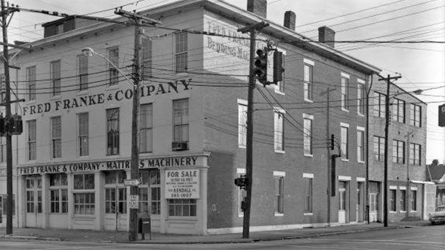 1967 photo of the for-sale Fred Franke & Company building. (Courtesy UL Photo Archives - Reference)