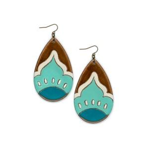 earrings, veggie tanned, eco, leather, handmade