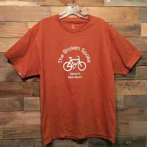 Men's Broken Spoke T Shirt Logo Front Orange