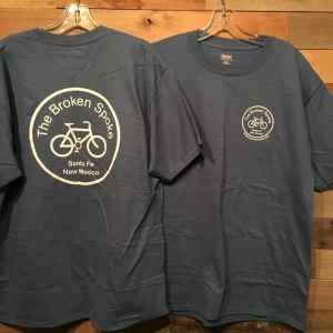 Men's Broken Spoke T-Shirt Logo Front & Rear Denim