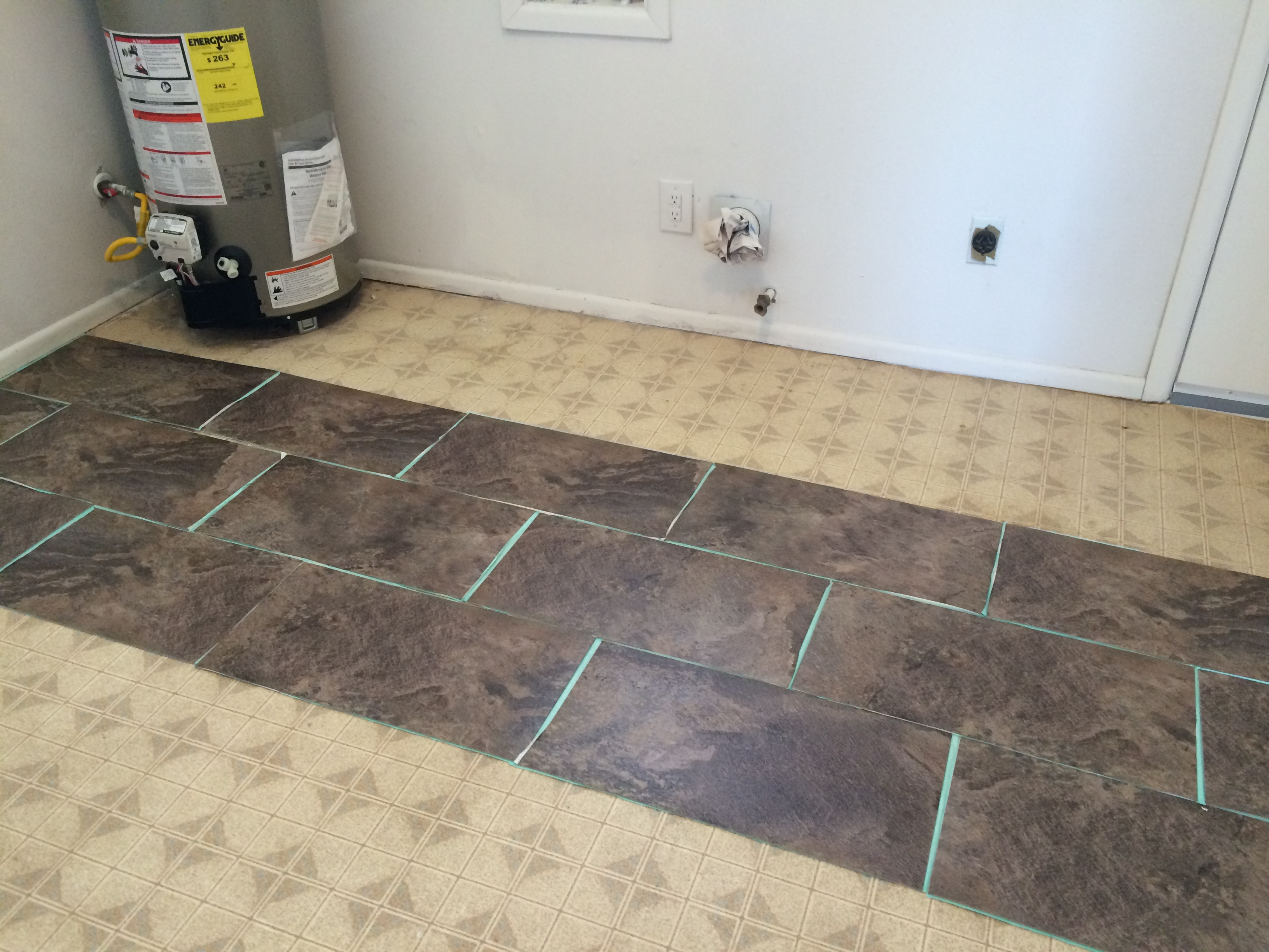 installing groutable vinyl tile a