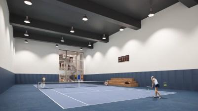 Indoor Tennis Court. Credit: WaterlineSquare.com