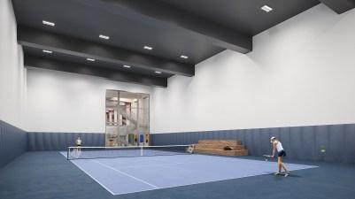 Waterline Square - Tennis Court | Photo Credit: waterlinesquare.com