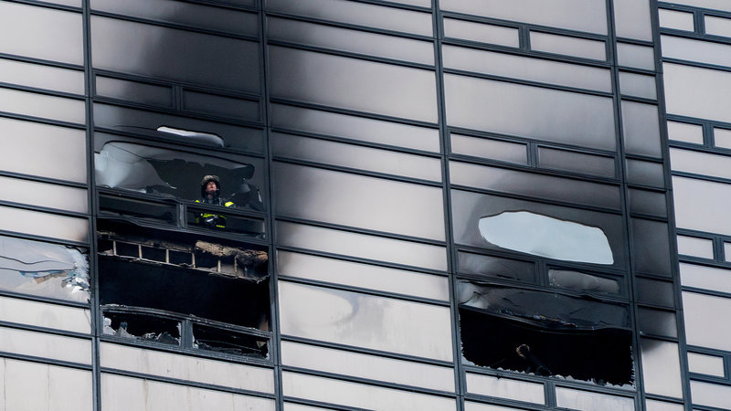 Trump Tower Fire: No Fire Sprinklers?