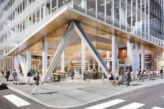 The repositioning of 390 Madison includes the demolition of three million pounds. Image Credit: Kohn Pedersen Fox Associates
