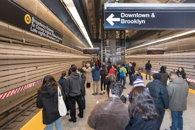 First riders aboard the Second Avenue Subway on January 1, 2017. Photo: Metropolitan Transportation Authority / Patrick Cashin