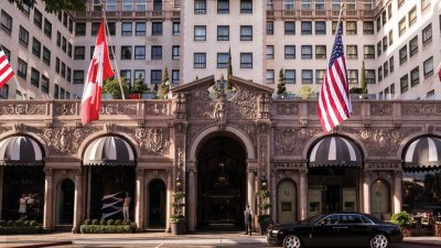 Beverly Wilshire Hotel Entrance