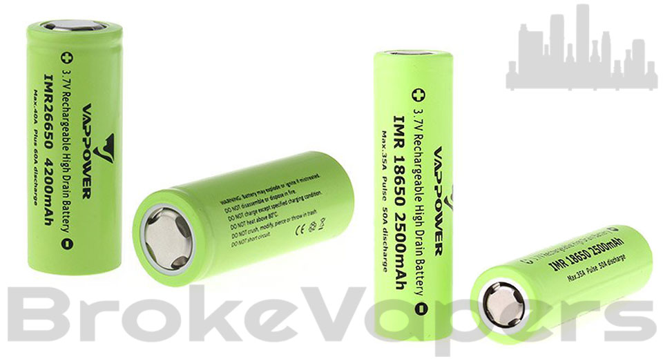 VAPPOWER IMR Batteries