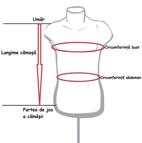 schema masuratori camasa populara barbati