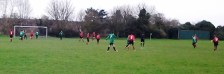 Callum opens the scoring for the U14 Colts