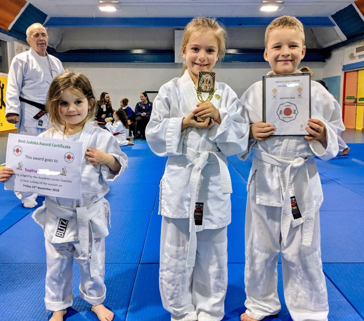 Bromley Judo Academy's trophy and certificate winners