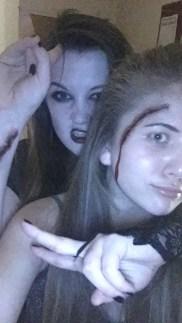Bronagh and Becky - Halloween