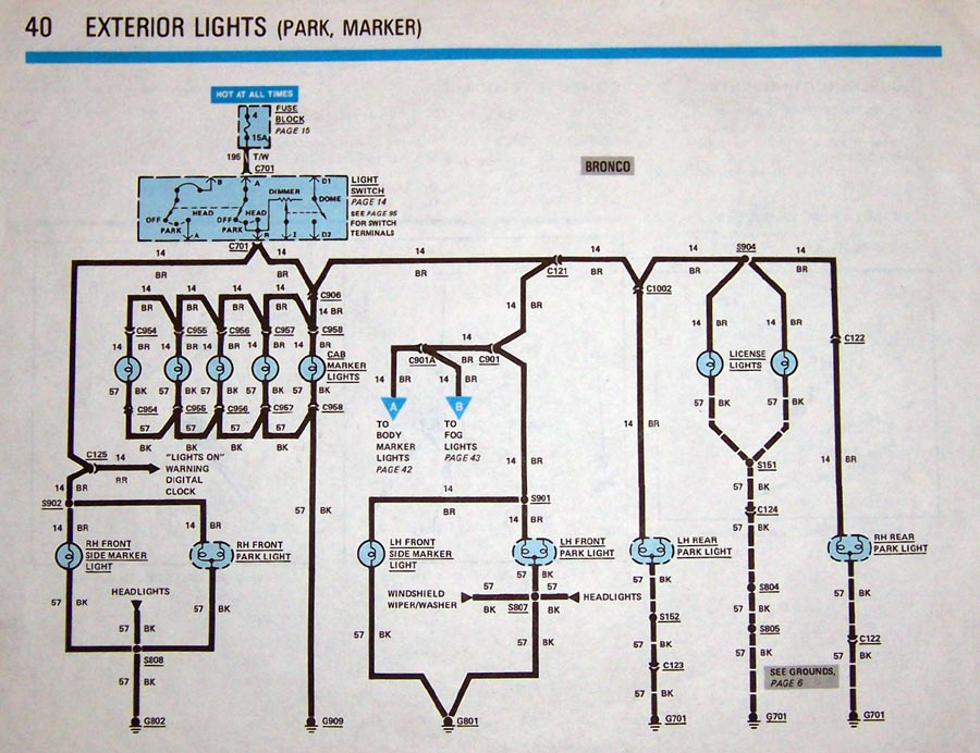 Ford Ignition Wire Diagram Brake Lights 80 96 Ford Bronco Tech Support 66 96 Ford