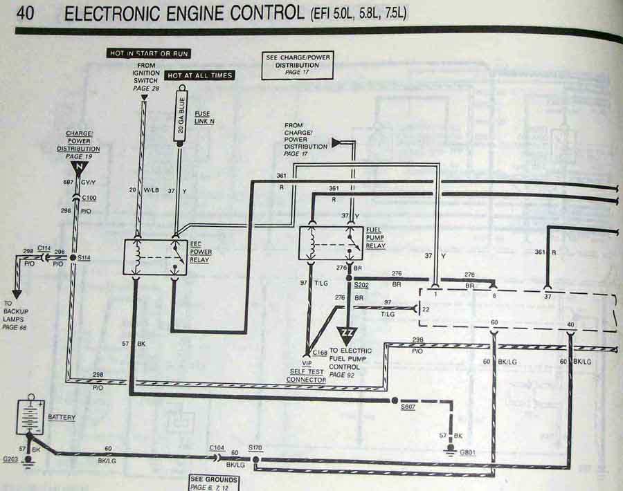 1981 Ford Charging System Wiring Diagram Fuel Pump Problems 80 Current Bronco Ii Amp Explorer Tech