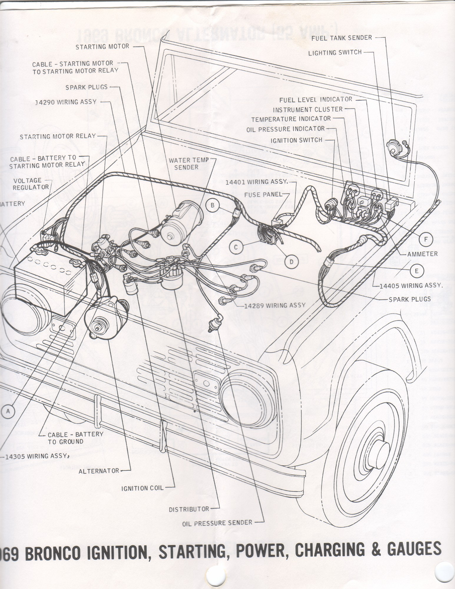 Wiring Diagram For 66 77 Ford Bronco. Ford. Auto Wiring