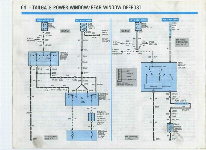 96 Chevy Wiring Diagram 90 Rear Tailgate Glass Removal 80 96 Ford Bronco Tech