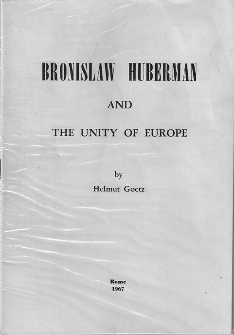 Bronislaw Huberman »