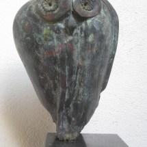 Abstracte bronzen uil - Jutte OWL.
