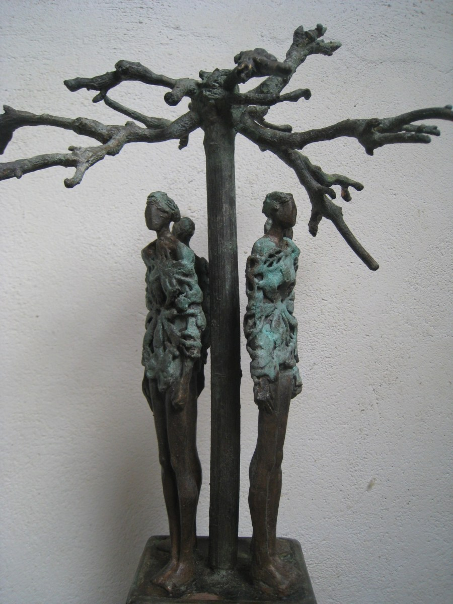 "Titel ""Rondom 4"" levensboom in brons"