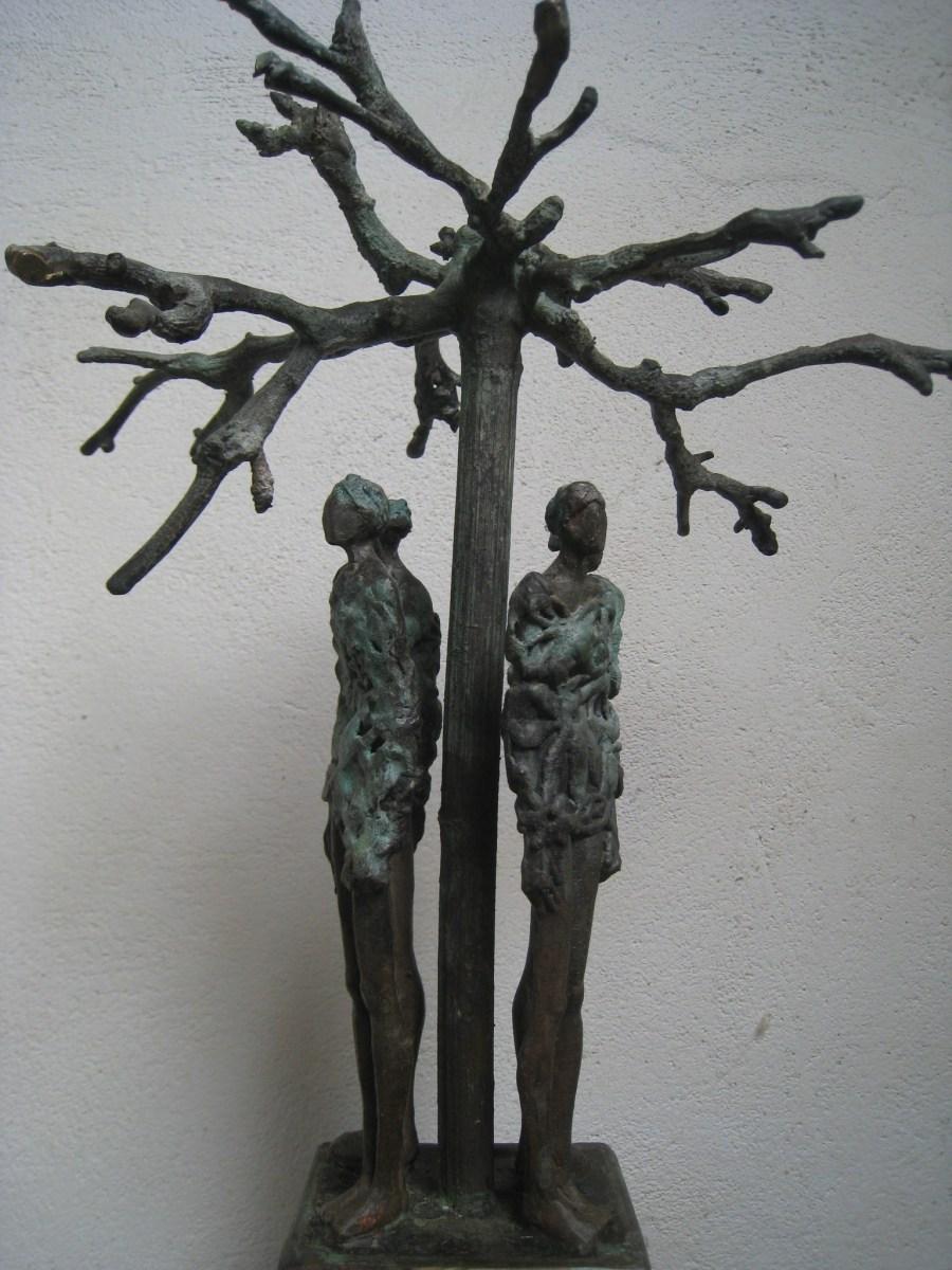 "Titel ""Rondom 3"" levensboom in brons"