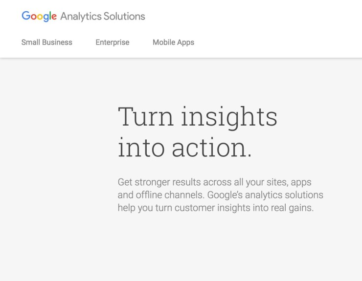 Measuring performance with Google Analytics reporting